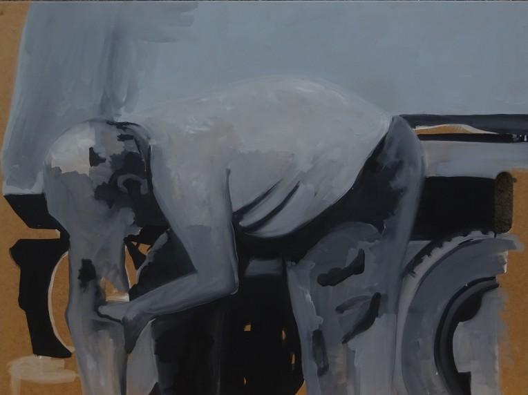 2014 huile sur contre-plaqué, 84x63 cm.